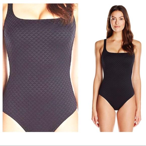 064cc20d266b0 Gottex Swim | Extracoverage Textured Square Neck Suit | Poshmark